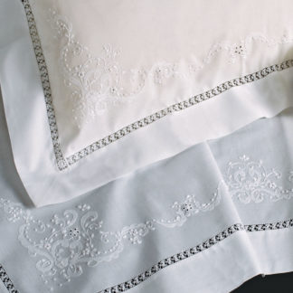 lenzuola lettino cotone ricamate