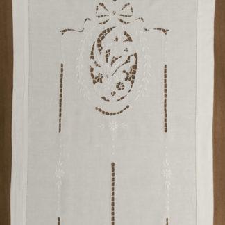 tende lino cotone ricamate intaglio floreale