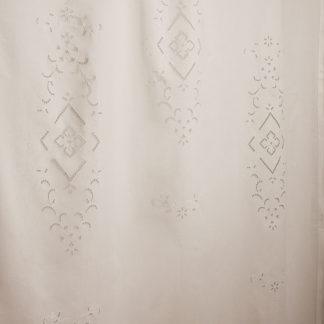tendone ricamato lino cotone