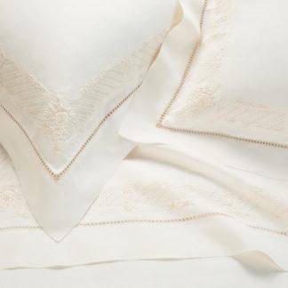 lenzuola matrimoniali lino ricamate
