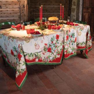 tovaglia natalizia tessitura toscana teleria