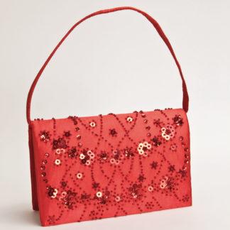 borsetta rossa paillettes