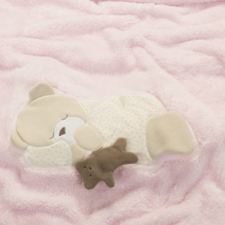 copertina pile orso rosa