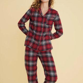 pigiama donna flanella scozzese